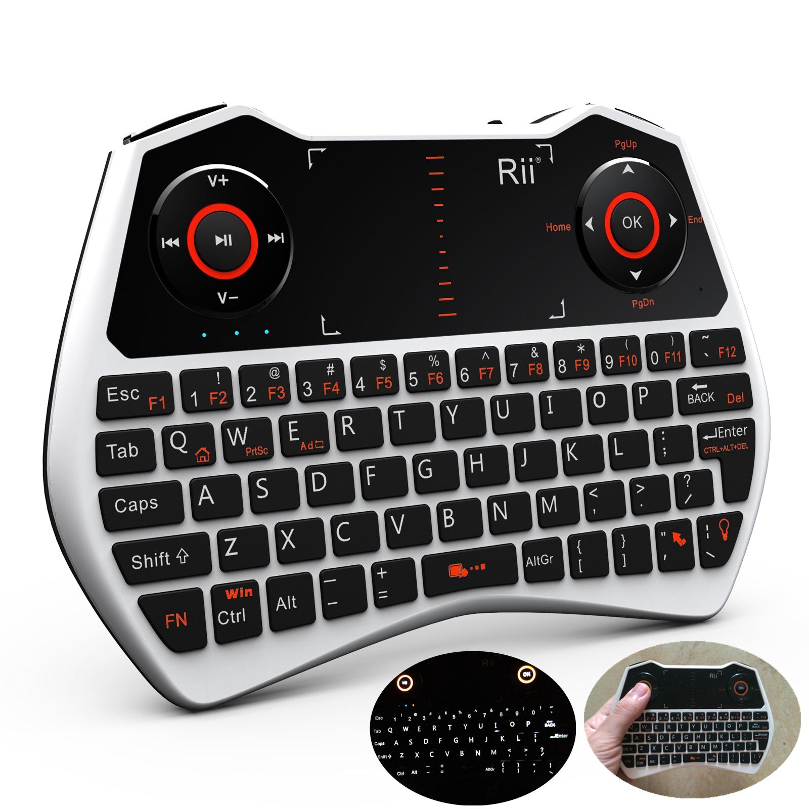 2.4G Rii i28 white mini Wireless Touchpad Air Mouse Keyboard