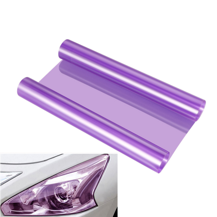 30x100cm Purple Car Van SUV Headlight Fog Tail Light Wrap Tint Film Sticker Deca
