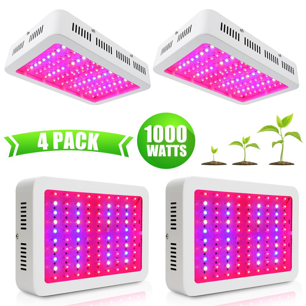 1//2//4Pcs 1000W LED Pflanzenlampe Grow Light Vollspektrum Pflanzen Gemüse Blume
