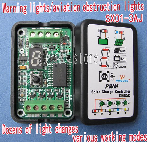 Details about New 3A 6V-12V PWM Solar Panel Light Controller Battery Charge  Regulator SX01-3AJ