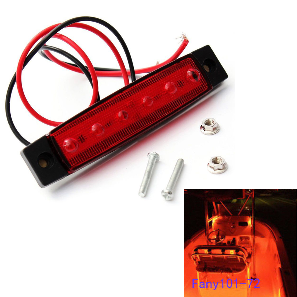 Marine Led Light Courtesy /& Utility Strip for Boats 12 Volts Red Pair of 2
