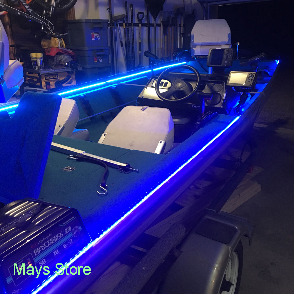 premium selection 60463 6f1b2 Details about Wireless Blue LED Strip Kit For Boat Marine Deck Interior  Lighting 16 FT
