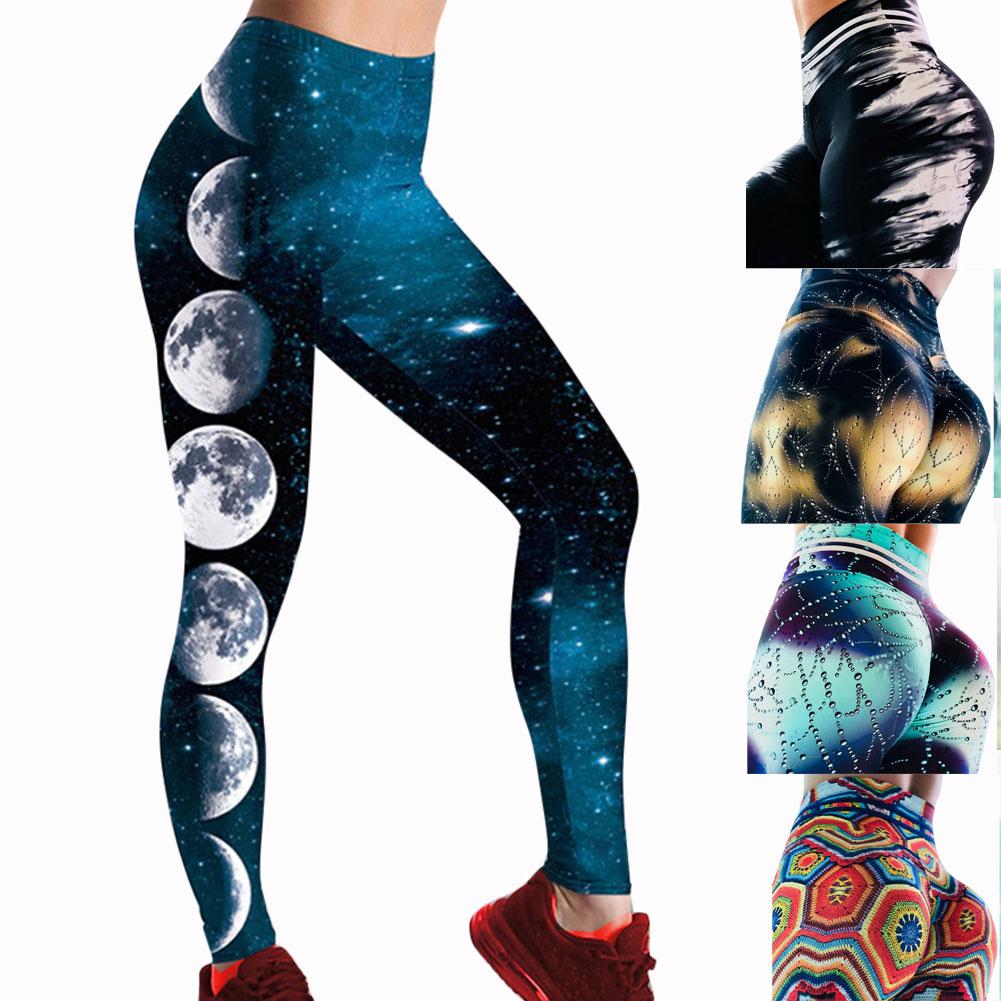 5baedd8abd69ef Womens 3D Push Up Leggings Water Droplets Print Anti Cellulite Scrunch Pant  TP