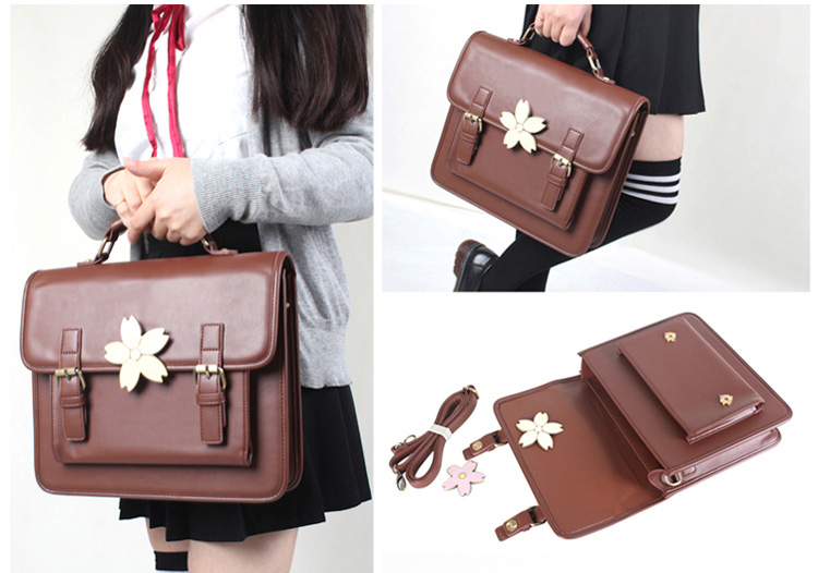 3c1c8588768 Japanese Sakura JK Uniform Shoulder Bag Handbag College Retro Lolita ...
