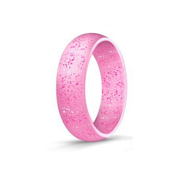 10Pcs Women Glitter Silicone Wedding Ring Rubber Band Modern Gym Crossfit Rings