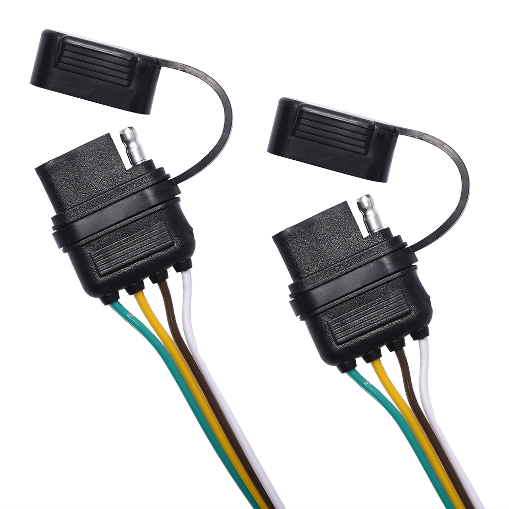 4pin flat trailer wiring harness y splitter adapter. Black Bedroom Furniture Sets. Home Design Ideas