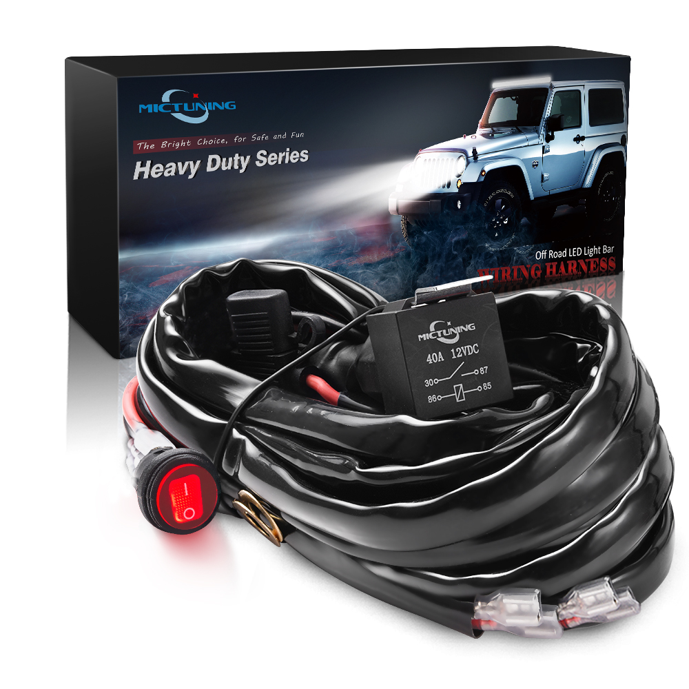 40amp Relay Wiring Harness Kit 12ft 12 Gauge 600w Off Road Led Fog Kits Light Bar