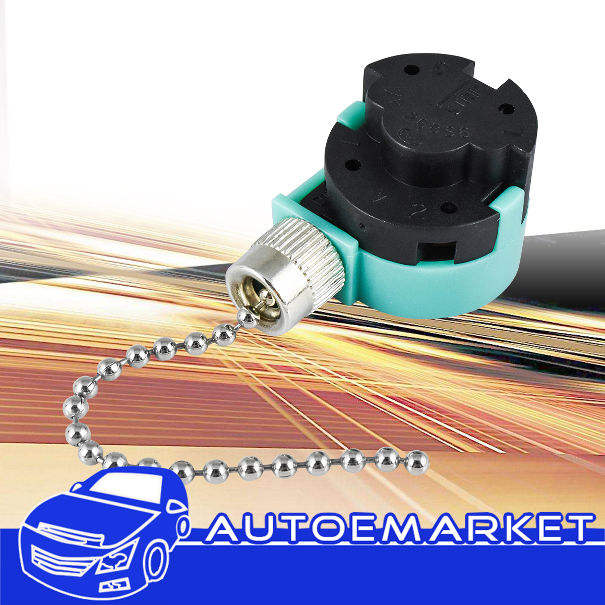4 Wire Pull Chain Switch Nickel Santa Ceiling Fan 3 Speed