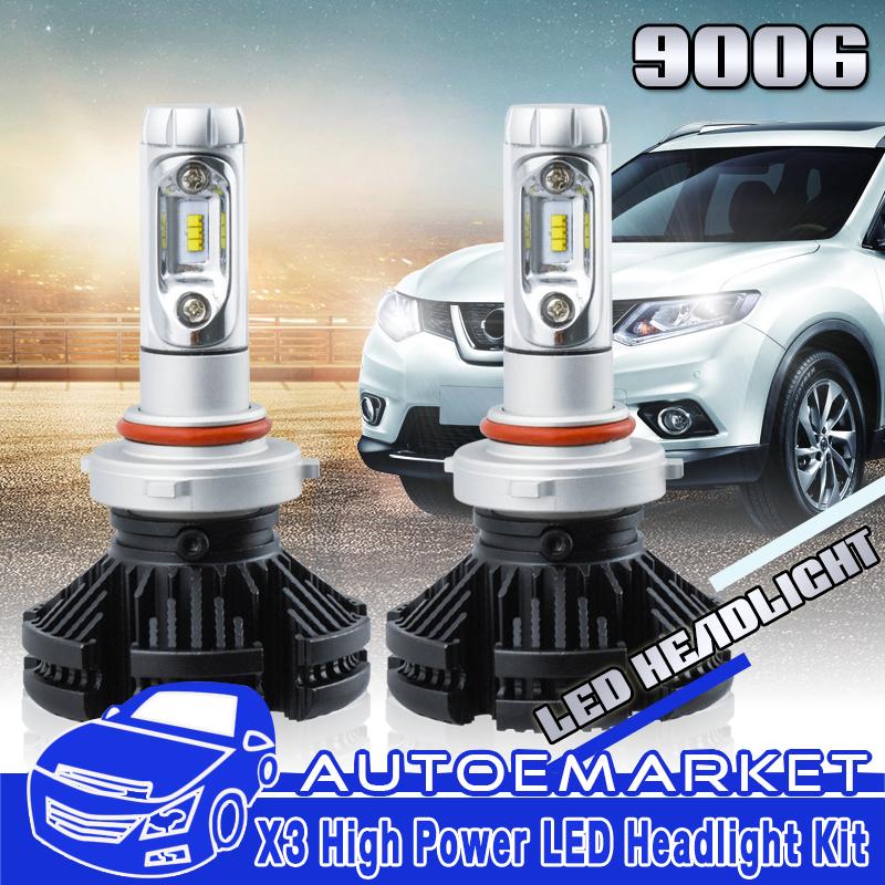9006 LED Headlight Kit for Jeep Grand Cherokee Dodge Avenger Low Beam Bulb 6000K