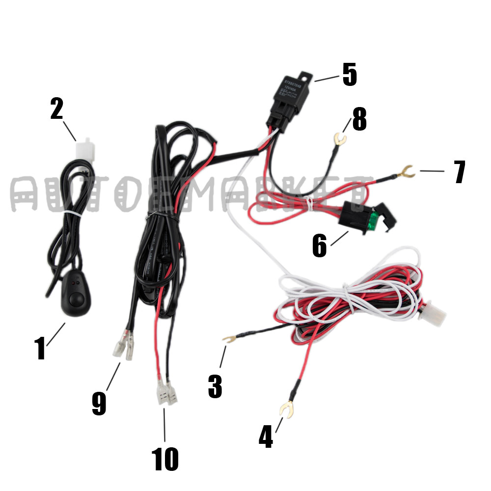 40a 12v power switch  u0026 relay fuse wiring harness kit for led light bar offroad 611968027895
