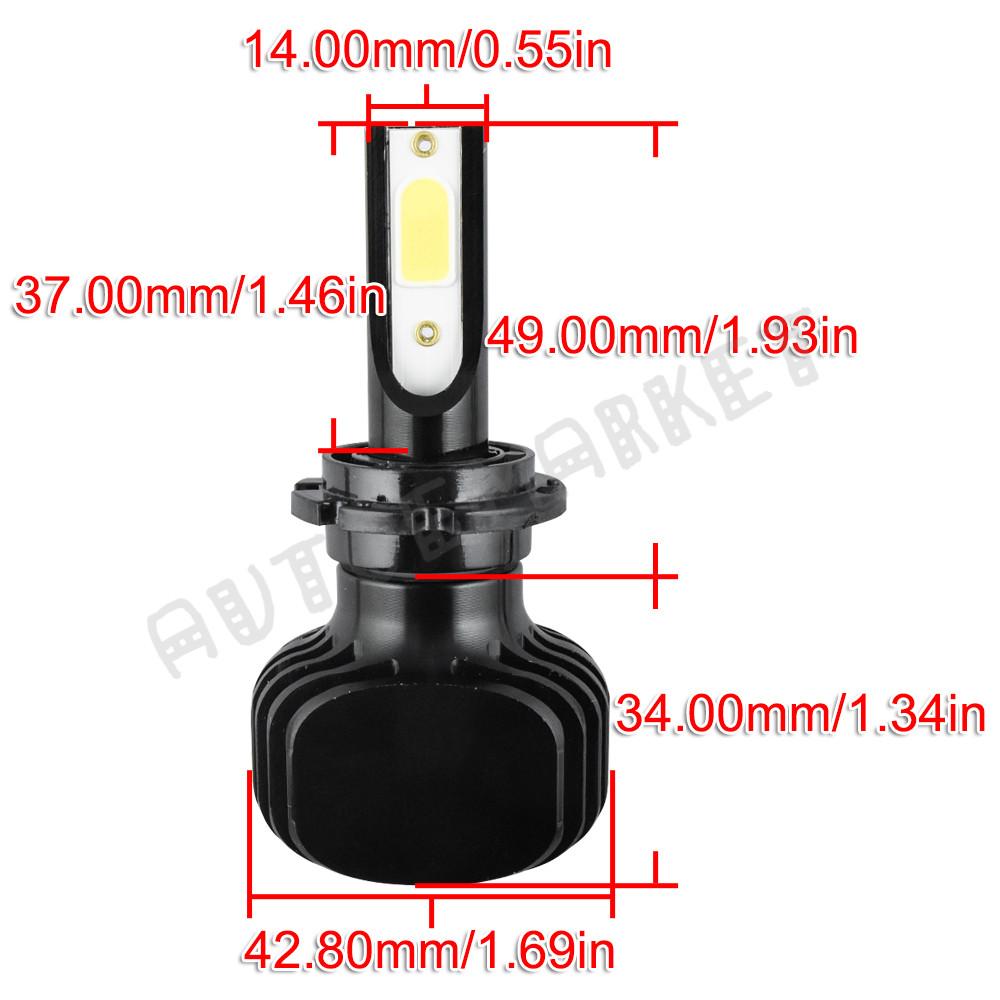 400W 40000LM D1S D2S D3S D4S//R Car COB LED Headlight Kit DRL Fog Bulbs 6000K KIT