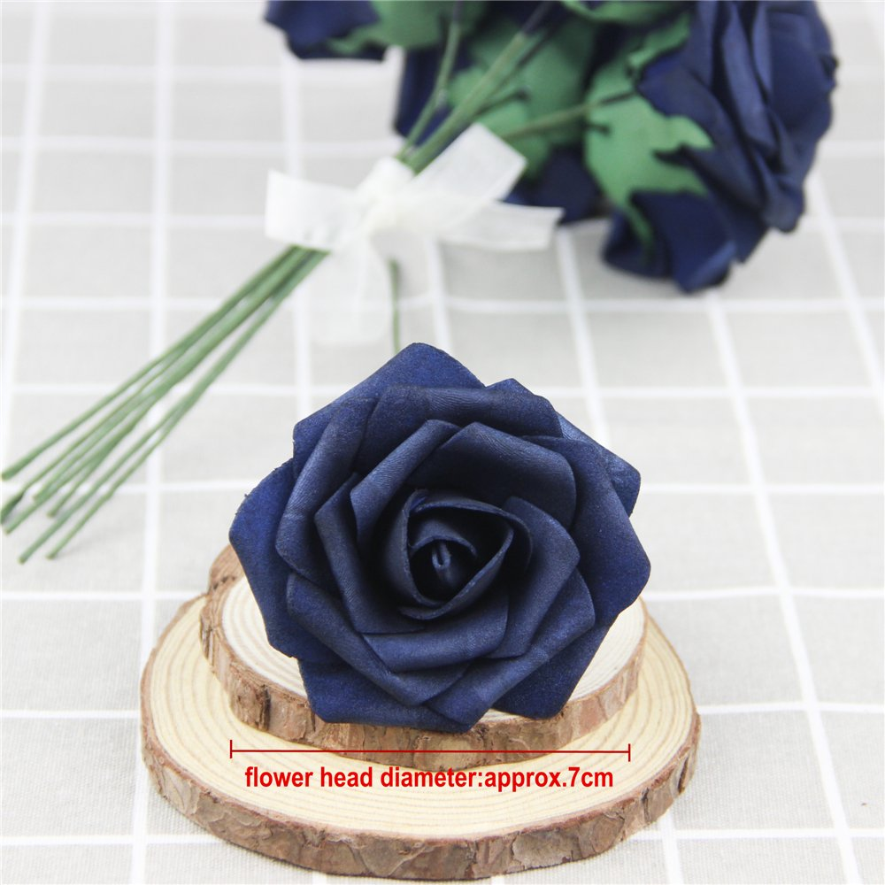 10X 50X Foam Roses Artificial Flowers Wedding Bouquet Party Home ...