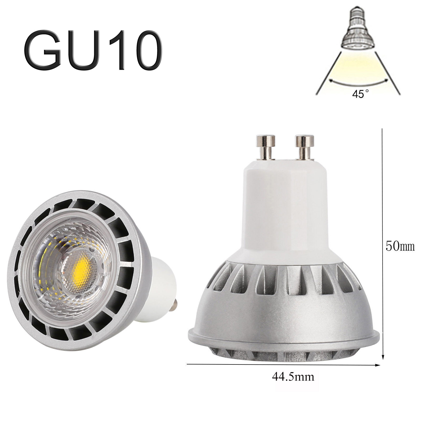 15w e27 gu10 mr16 e26 dimmable led spotlight cob lights bulb cree lamp ebay. Black Bedroom Furniture Sets. Home Design Ideas