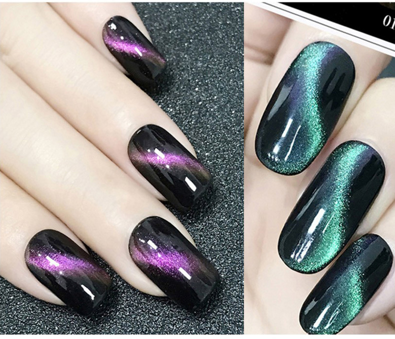 v.t.s Cat Eyes Temperature Color Change Magnetic Nail Gel Polish ...