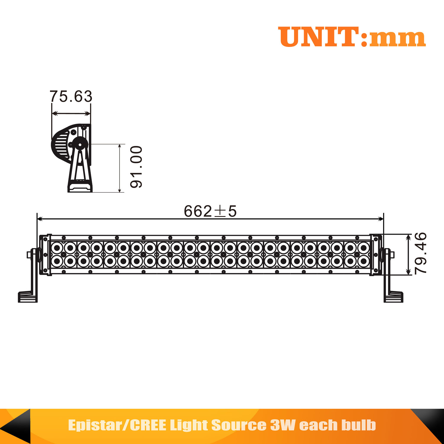 26inch 144w Curved Led Light Bar Wiring Harness 2pcs 18w One For Cree To Two