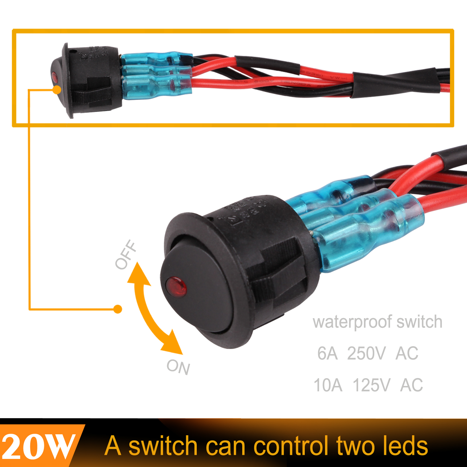 2pcs 40w Uno Ece Sae High Beam Patten Cree Led Light Wiring Kit Leds In Series Control Two Bar