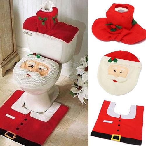 Christmas Xmas Decoration Santa Toilet Seat Amp Cover