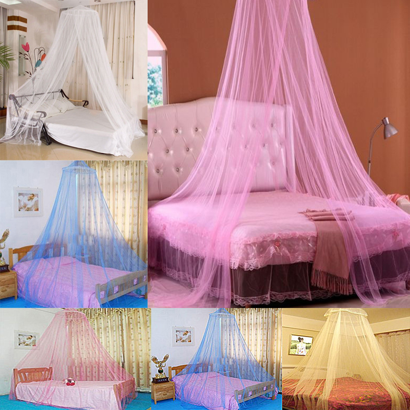 Details about White Pink Blue Round Lace Curtain Dome Bed Canopy Netting Princess Mosquito Net & White Pink Blue Round Lace Curtain Dome Bed Canopy Netting Princess ...