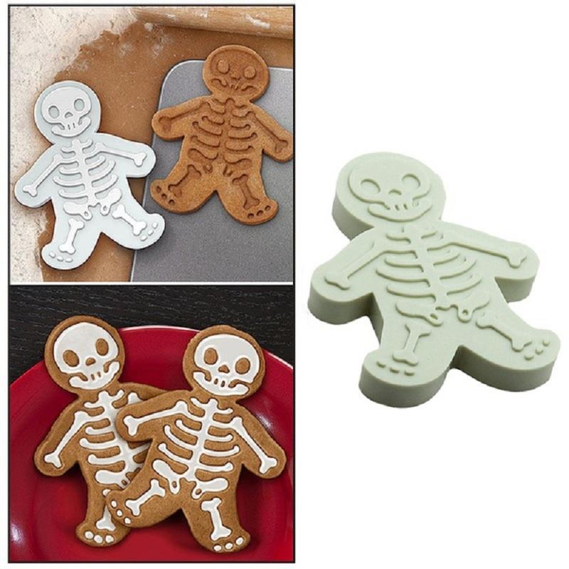 Noël Pain D/'Épice Homme Cookie Cutter et Stamper Squelette De Cuisson Moule Outil