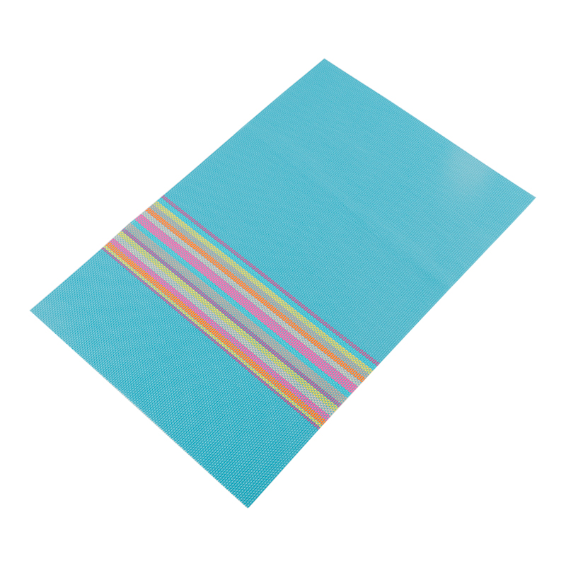 New Pvc Striped Placemats Insulation Western Dining Table