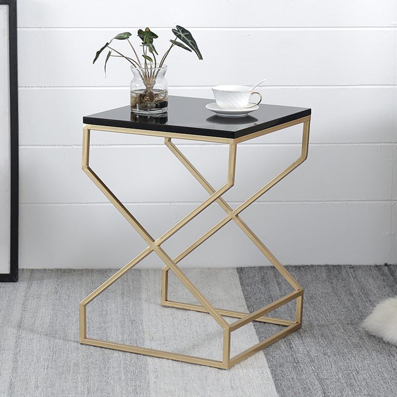 Pleasant Details About Modern Minimal Black White Wood Square Top Gold Geometric Stand Sofa Side Tables Inzonedesignstudio Interior Chair Design Inzonedesignstudiocom