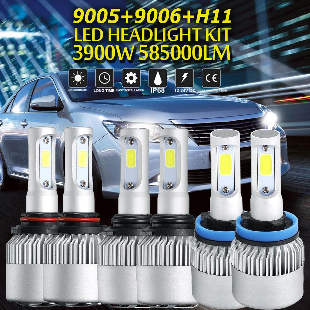 2X CREE H7 LED Headlight Conversion Kit 1080W 162000LM Bulbs Low Beam 6000K US