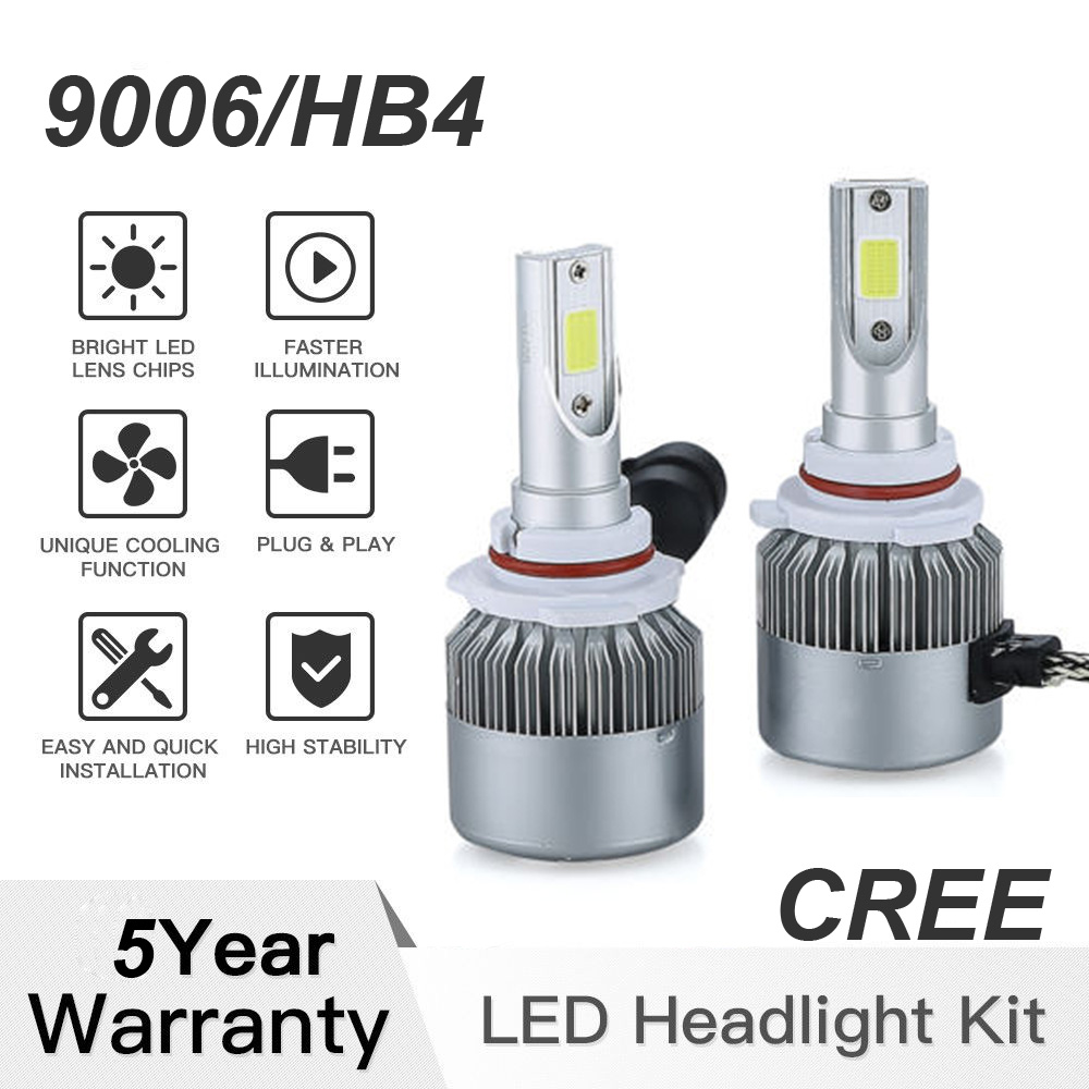 2x LED Car Headlight Bulbs Kit H11 1080W Power Low Beam 6000K White CREE Chip
