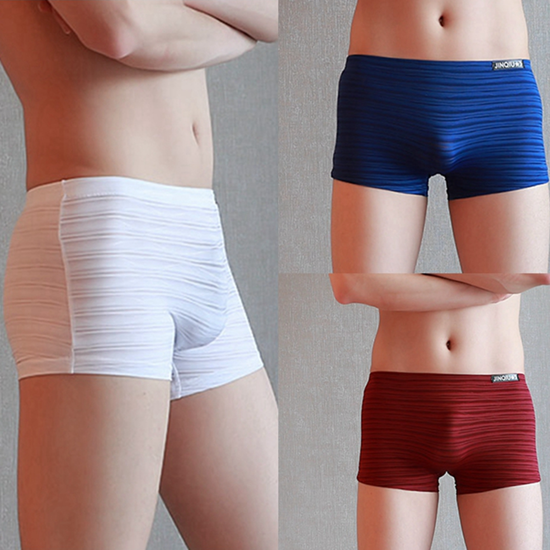 Mens Underwear Shorts Pants Boxers Underpants Soft Briefs Breathable knickers HK