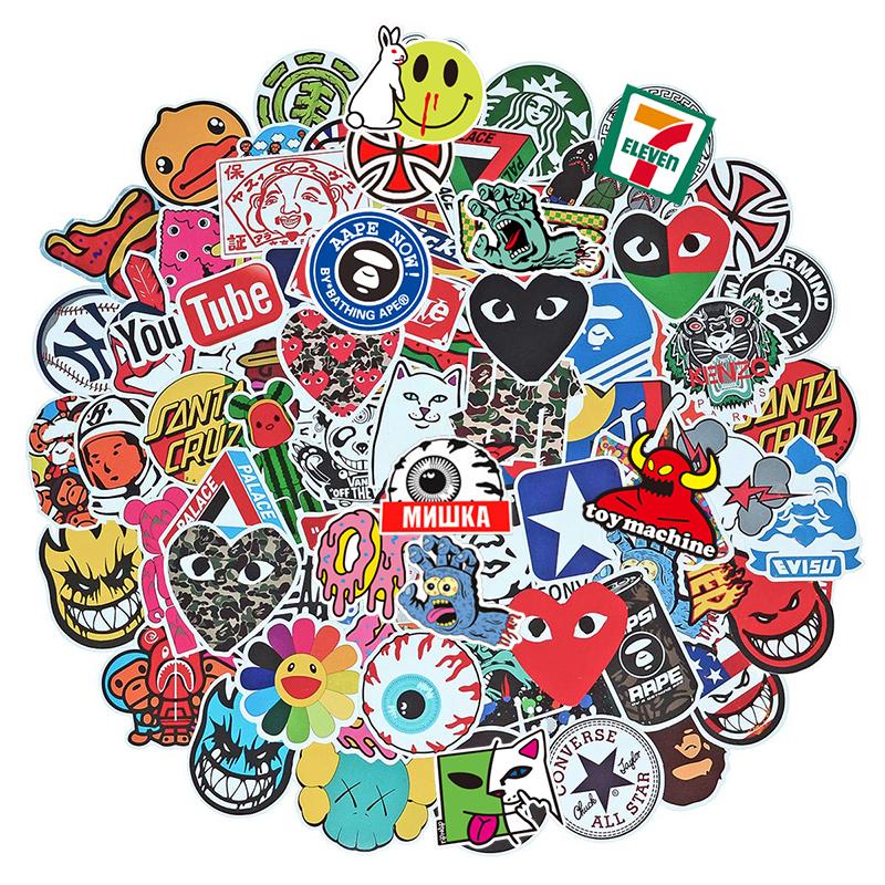 Skateboard Stickers 10 Pieces Sticker Bomb SPITFIRE TOY MACHINE Summer 2020