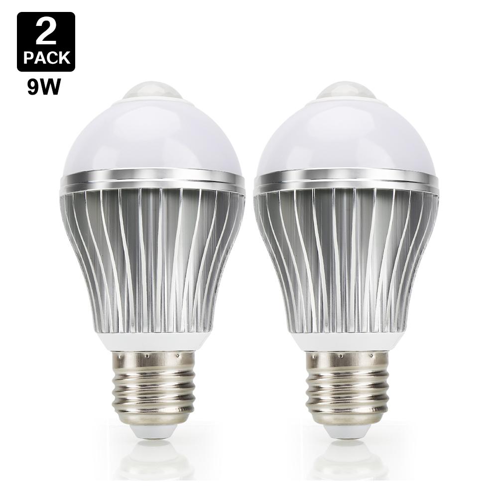 9w led gl hbirne birne mit bewegungssensor bewegungsmelder pir licht e27 lampe ebay. Black Bedroom Furniture Sets. Home Design Ideas