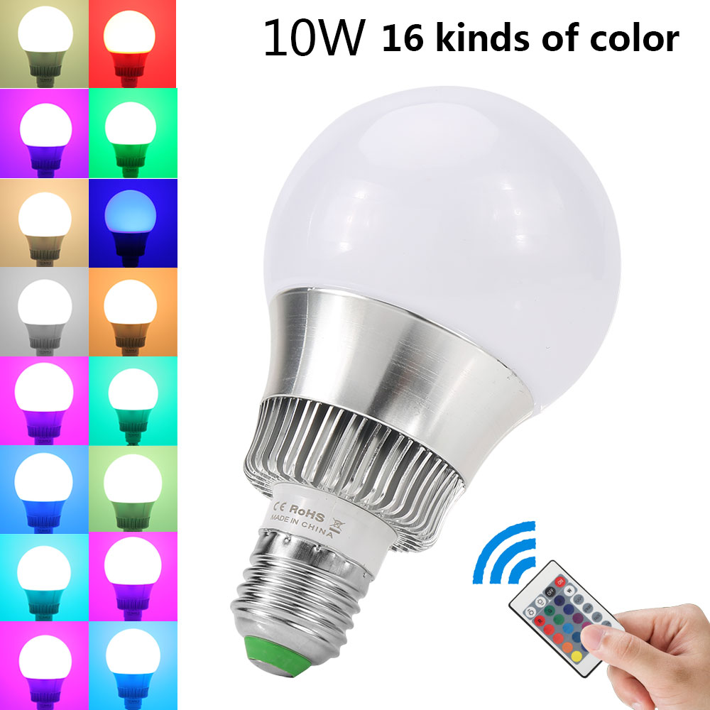 10w e27 farbwechsel rgb bunte led birne ir fernbedienung lampe dimmbar licht de ebay. Black Bedroom Furniture Sets. Home Design Ideas