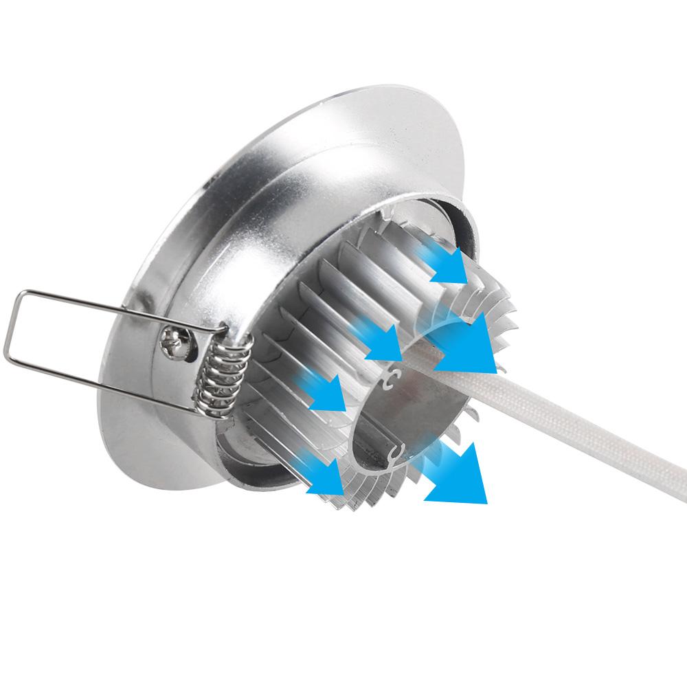 Dimmbar 10x 3W LED Spot Einbauleuchte Warmweiß Einbau Strahler Set Decken  Lampe
