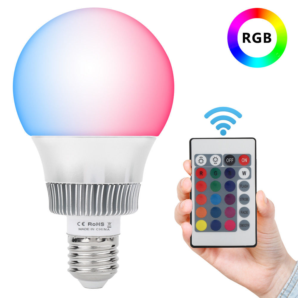 10W E27 LED RGB Globe Bulb Light Lamp Color Change IR