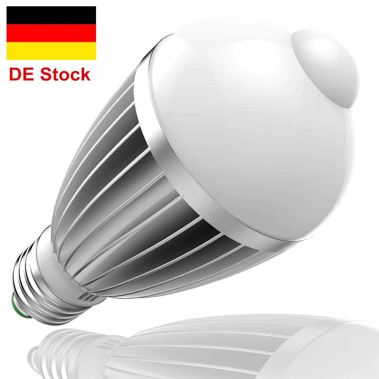 9w led lampe mit bewegungssensor e27 glühbirne birne pir