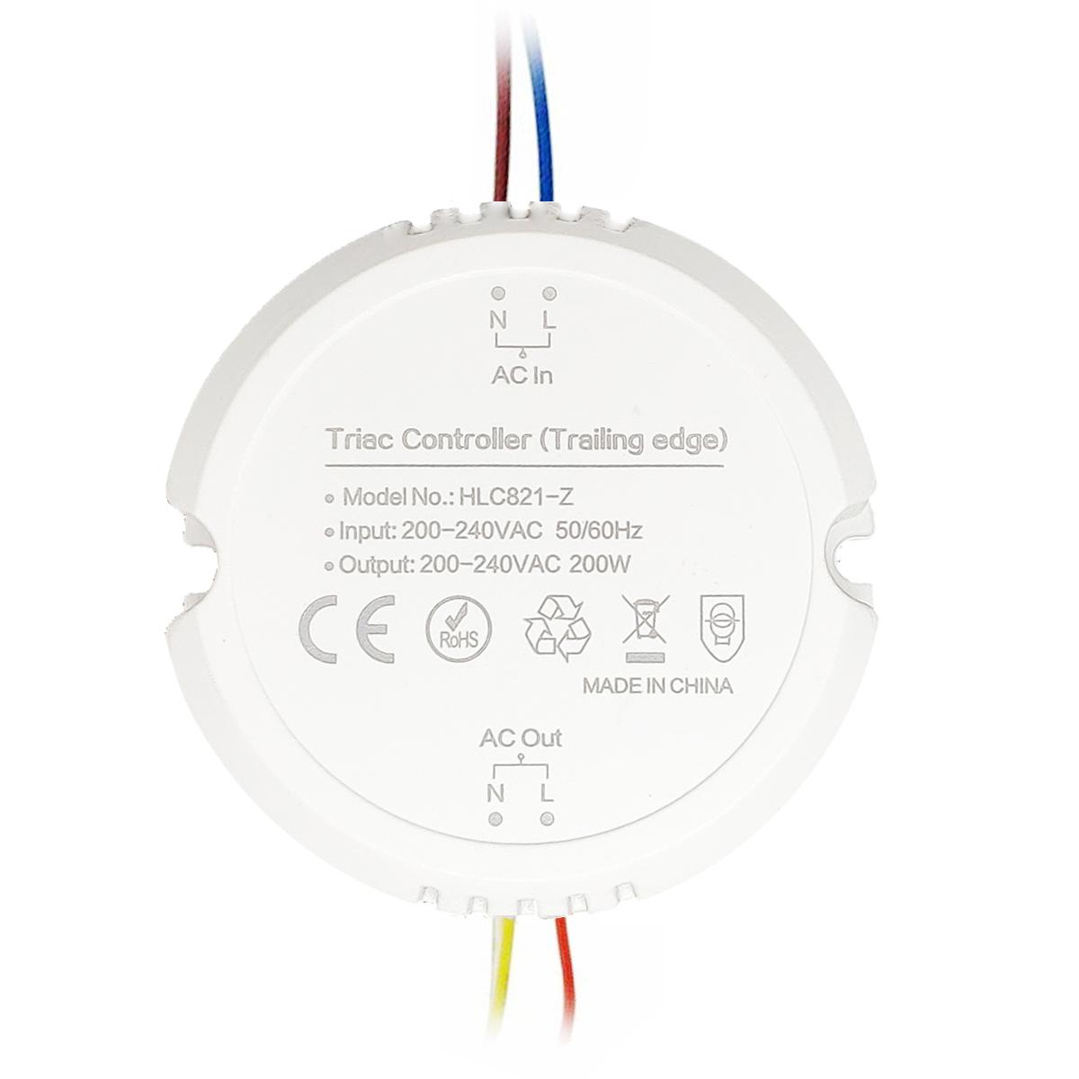 zigbee 200w smart triac led dimming controller for amazon alexa echo plus ac220v