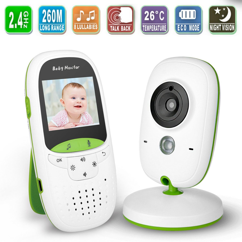 Wireless 2.4GHz Video Baby Monitor Camera Night Vision 2-Way Talk Digital LCD