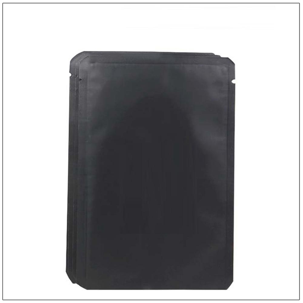 100 Pcs Matte Aluminum Stand Up Self Sealing Envelope Shipping Food Mask Bags