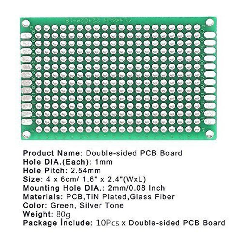 12 Stück KIT Prototyping PCB Leiterplatte Prototyp Breadboard Stripboard