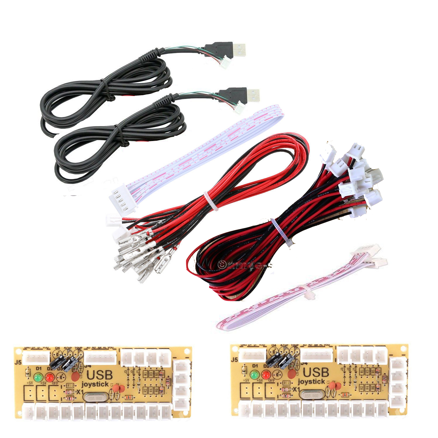 Details about 2 Player Zero Delay USB Encoder PC To Joystick for Raspberry  Pi 3 and USB MAME