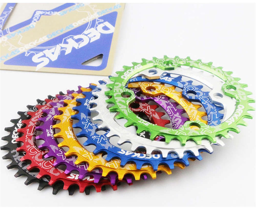 Deckas BCD 104mm Chainring Round//Oval 32//34//36//38T Narrow Wide Bike Chainring