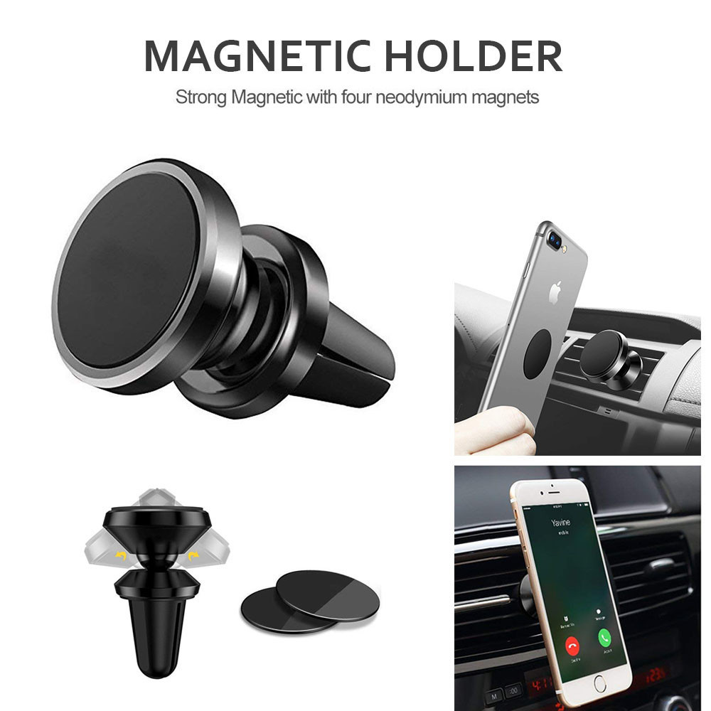 360°Universal Magnetic Car Air Vent Mount Holder Cradle Stand For Cell Phone GPS
