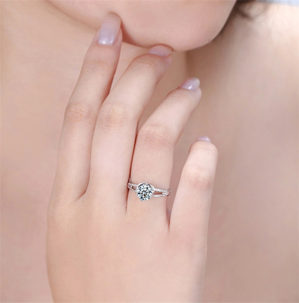 Costly Solitaire Size 6,7,8,9 White Sapphire 18K Gold Filled Womens ...