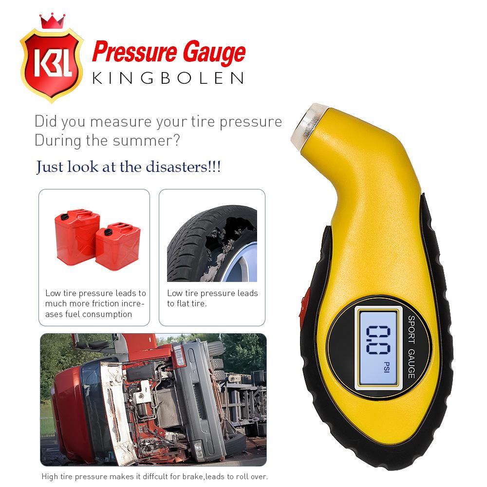 Clode/® Digital Tyre Pressure Gauge Tool Car Universal LCD Display Tyre Air Pressure Gauge Tester Tool For Auto Car Motorcycle