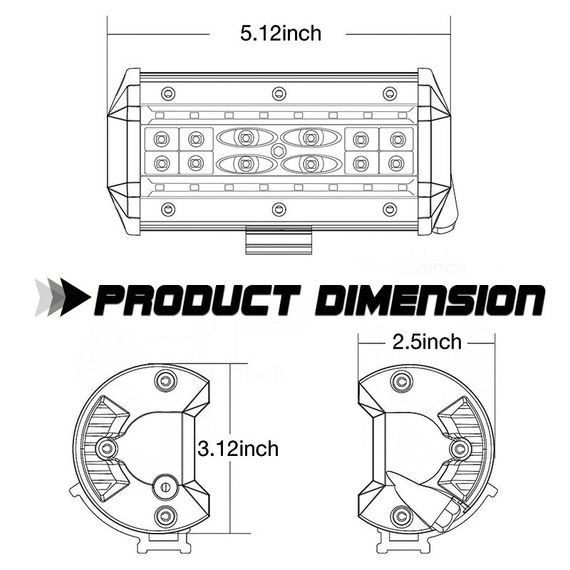 12v wiring harness kit 5inch quad row led light bar spot flood combo rh ebay com Banshee Wiring-Diagram 110Cc 4 Wheeler Wiring Diagram