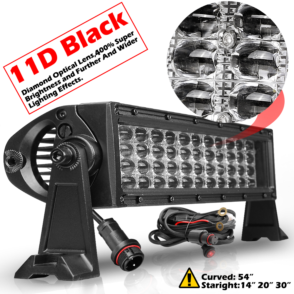 14 Quot 480w 11d Led Light Bar Quad Row Spot Flood Combo
