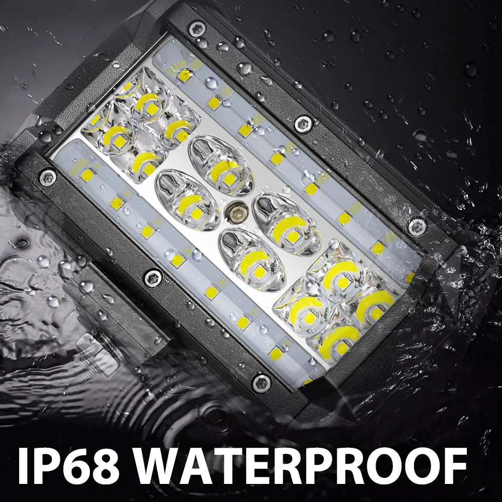 2x 168w led light bar work pods spot flood offroad fog driving lamps 2x 168w led light bar work pods spot flood offroad fog driving lamps 5inch 12v pickup utb atv suv jeep truck boat bus marine car fandeluxe Images