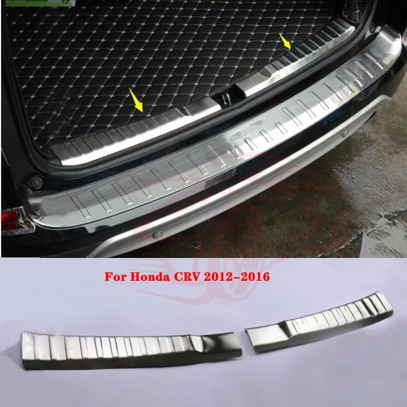 Stainless Steel Inner Rear Bumper Protector Sill For Honda CR-V CRV 2015 2016