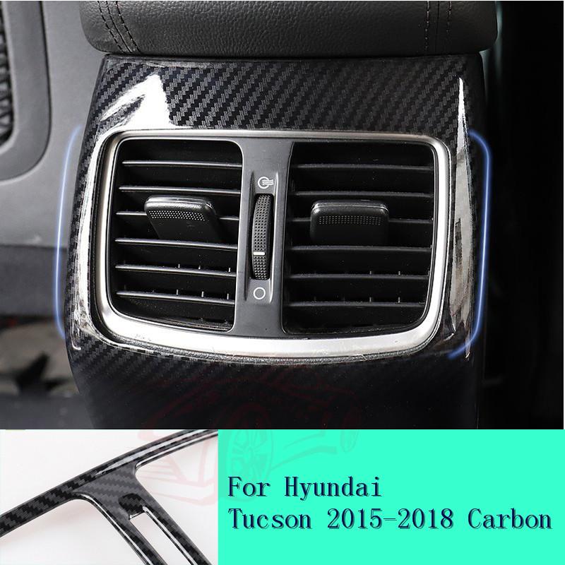 For Hyundai Tucson 2015-2018 Carbon Fiber Side Air Vent Outlet Frame Cover Trim