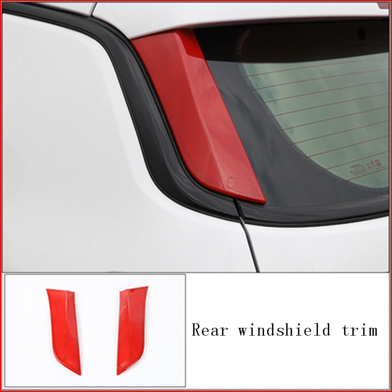 Red ABS Interior Rear Air Vent Outlet Cover Trim For Jeep Compass 2017-2019