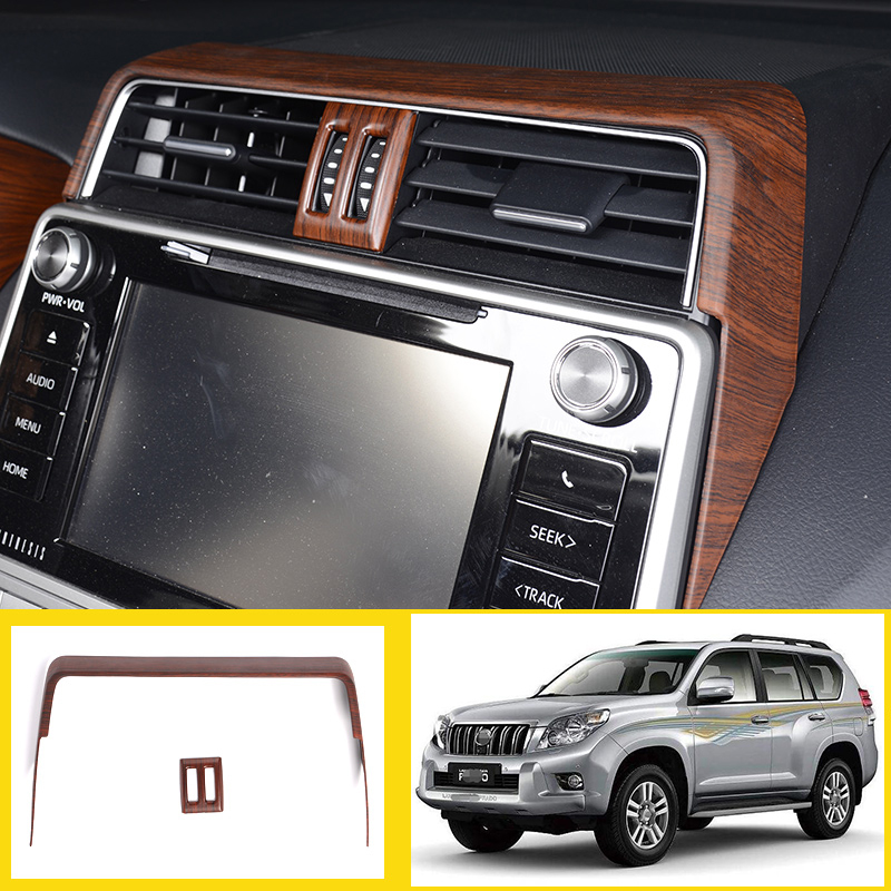 Pine Wood Grain ABS Plastic For Toyota Land Cruiser Prado FJ150 150 2010-2017 Car Side Rearview Mirror Adjustment Frame Cover Trim Accessories